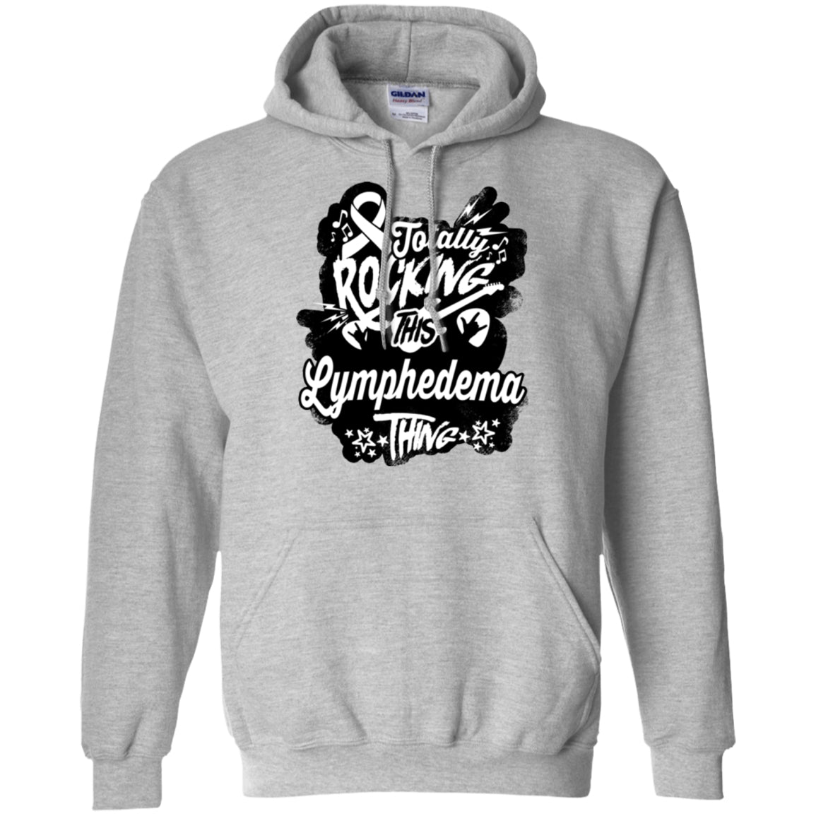 Rocking Lymphedema Pullover Hoodie 8 oz. - The Unchargeables