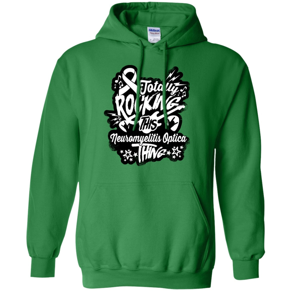 Rocking Neuromyelitis Optica Pullover Hoodie 8 oz. - The Unchargeables