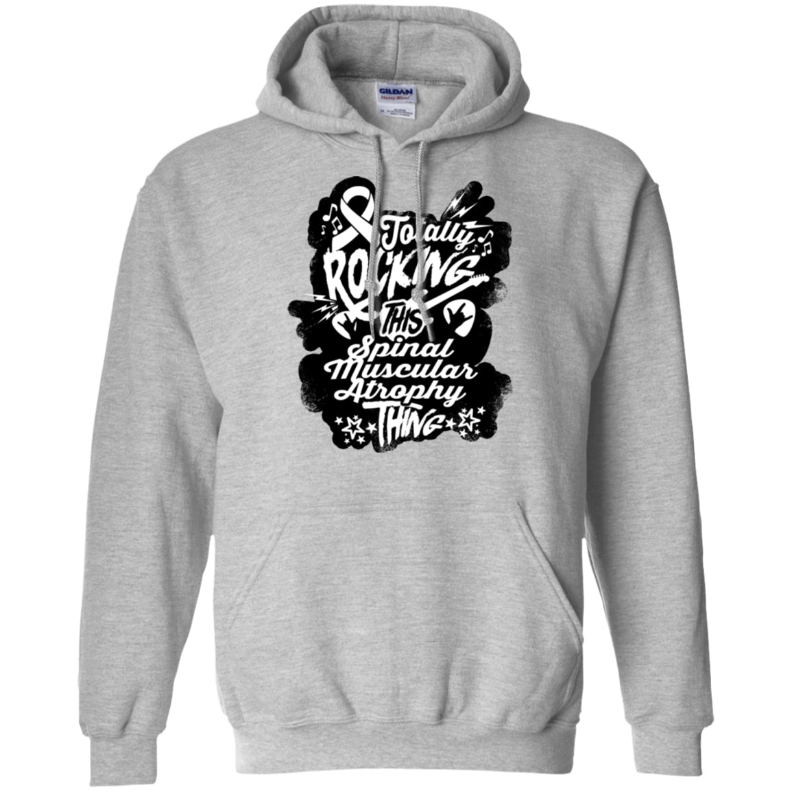 Sweatshirts - Rocking Spinal Muscular Atrophy Pullover Hoodie 8 Oz.