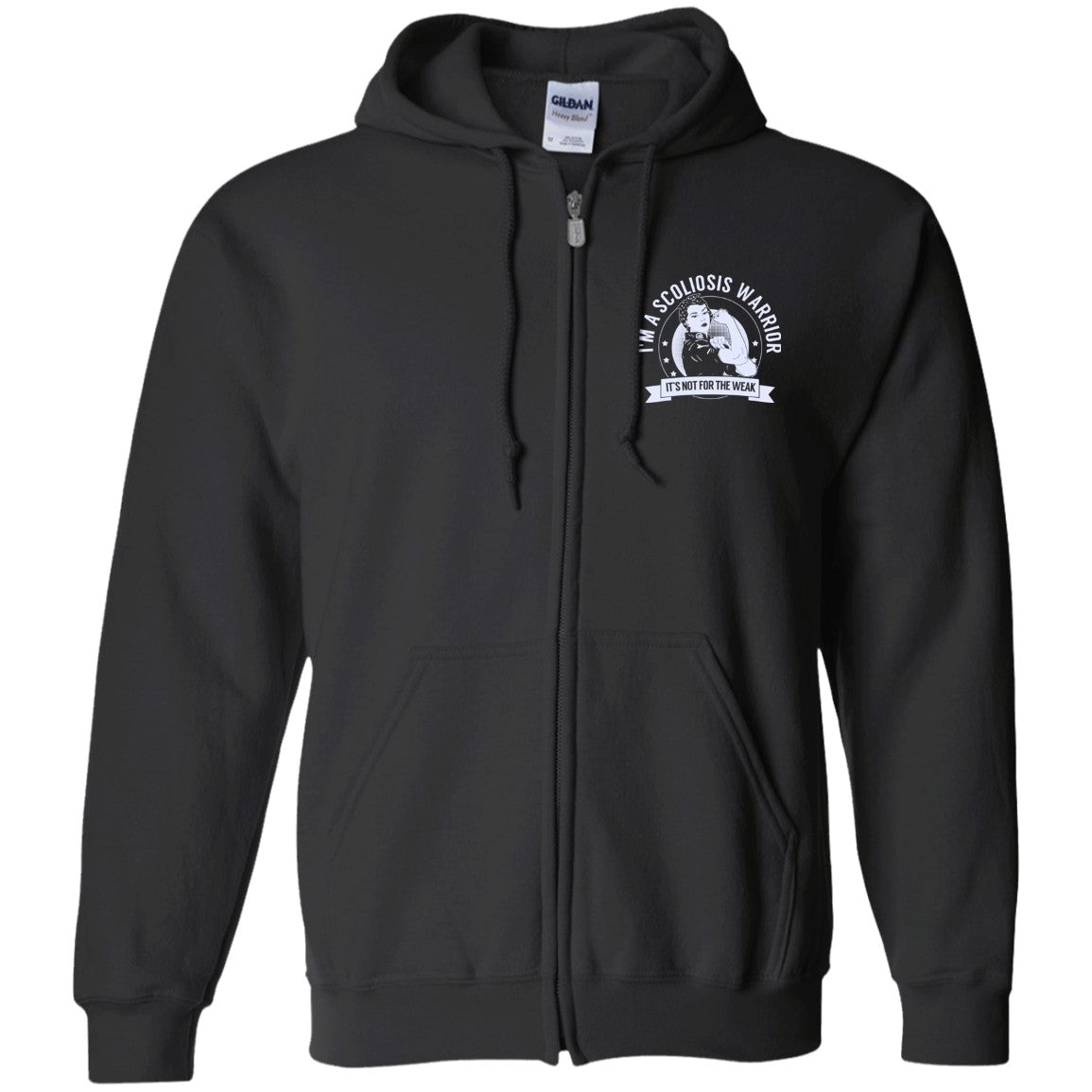 Scoliosis Warrior NFTW Zip Up Hooded Sweatshirt - The Unchargeables