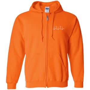 Sweatshirts - Spoonie Heartbeat Zip Up Hooded Sweatshirt