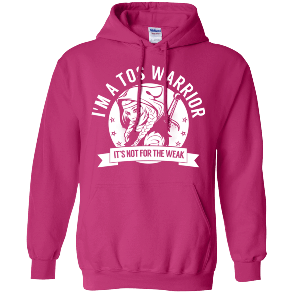 Sweatshirts - Thoracic Outlet Syndrome - TOS Warrior Hooded Pullover Hoodie 8 Oz.