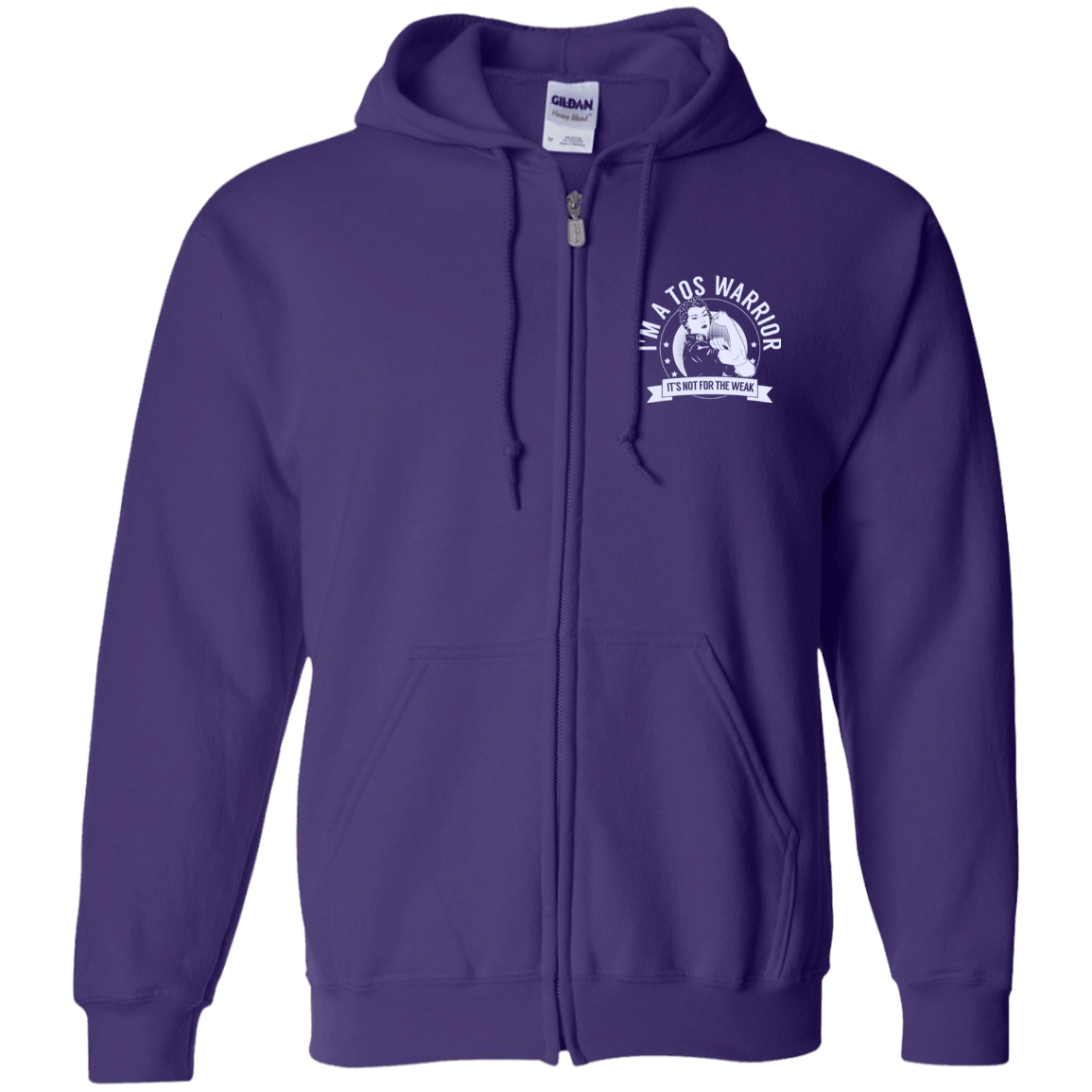 Sweatshirts - Thoracic Outlet Syndrome - TOS Warrior NFTW Zip Up Hooded Sweatshirt