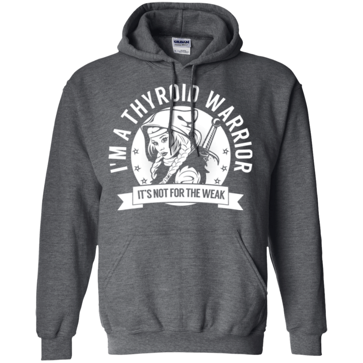 Sweatshirts - Thyroid Disease - Thyroid Warrior Hooded Pullover Hoodie 8 Oz.