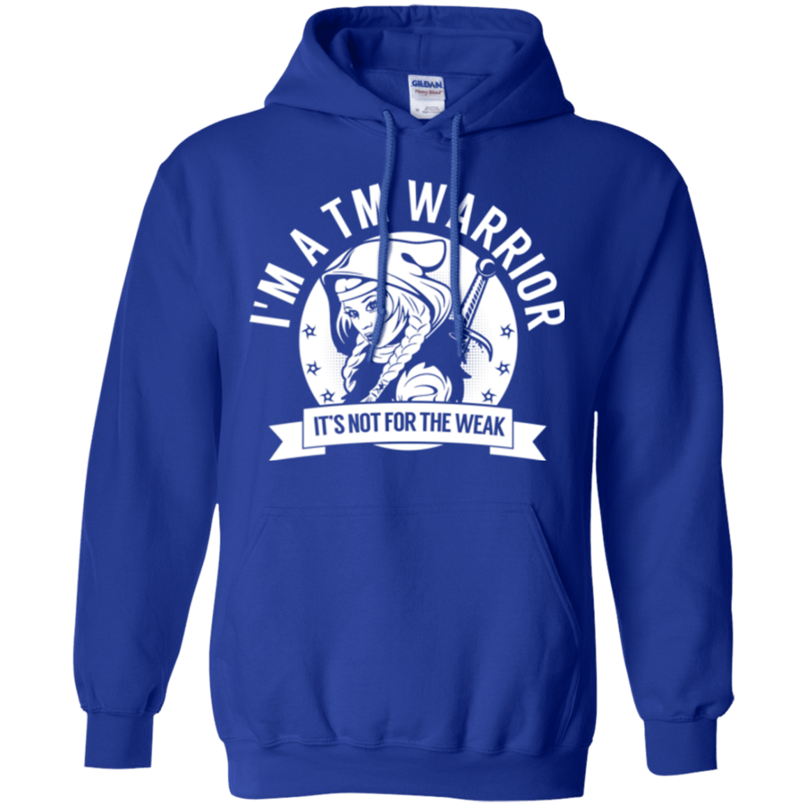 Sweatshirts - Transverse Myelitis - TM Warrior Hooded Pullover Hoodie 8 Oz.