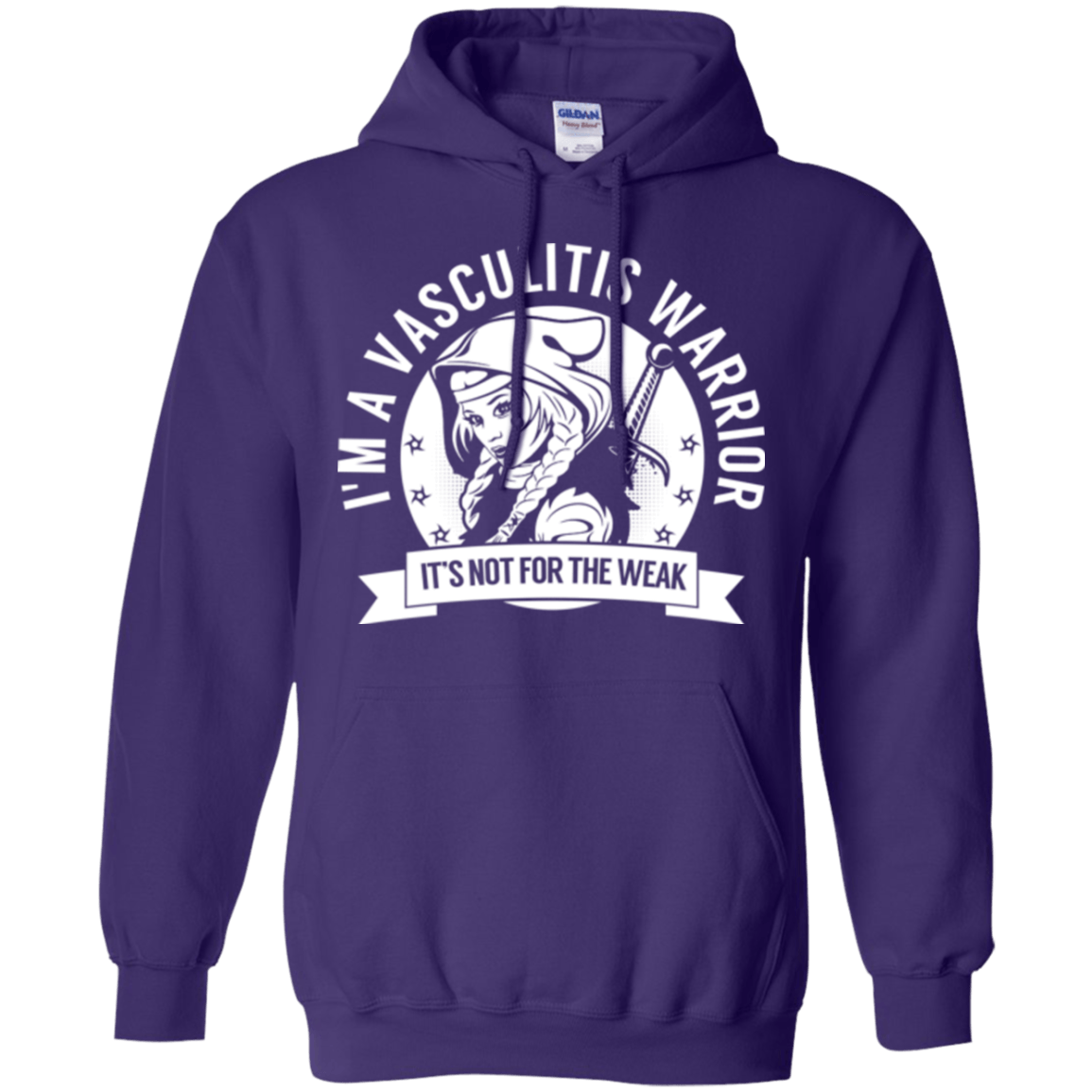 Sweatshirts - Vasculitis Warrior Hooded Pullover Hoodie 8 Oz.