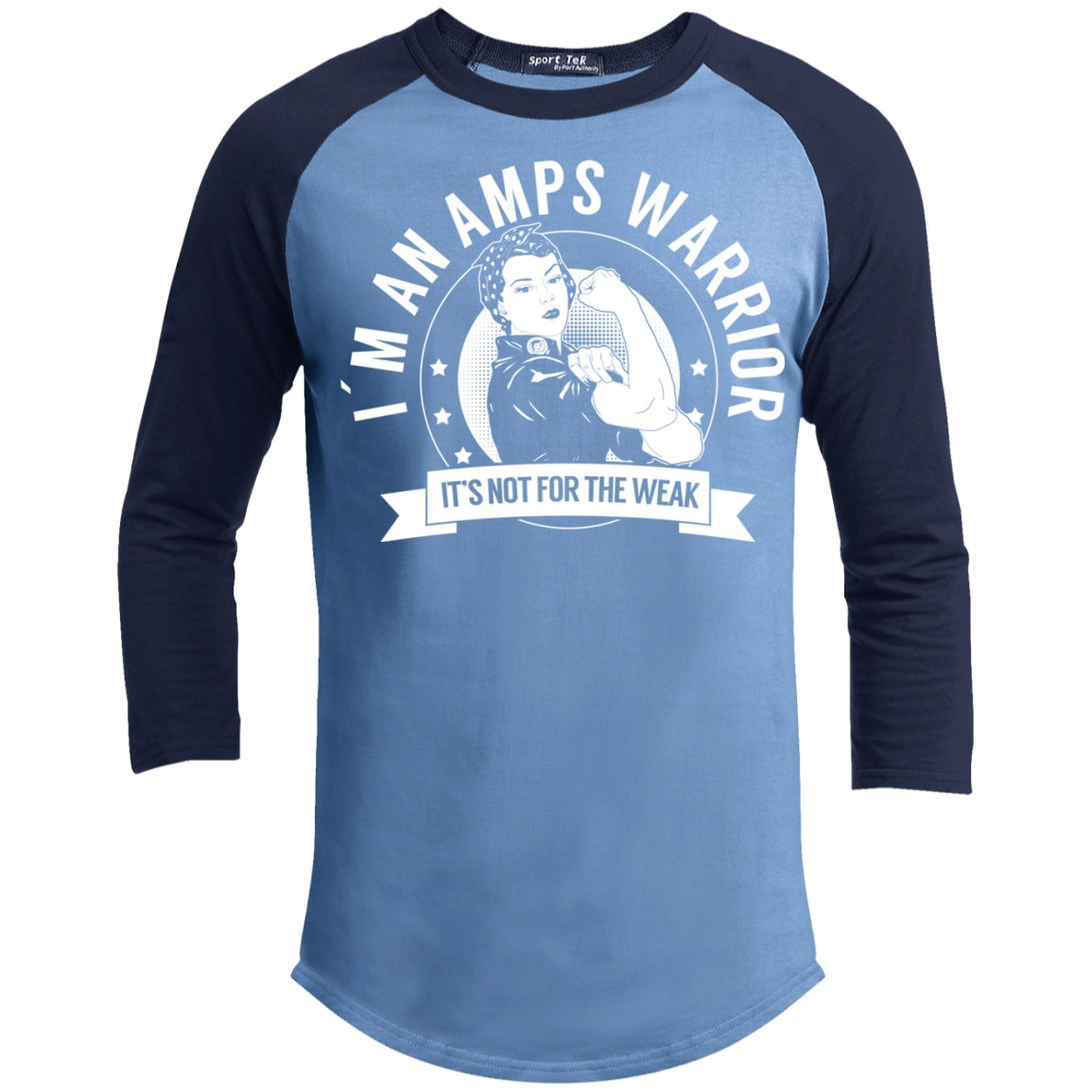 T-Shirts - Amplified Musculoskeletal Pain Syndrome - AMPS Warrior NFTW Baseball Shirt
