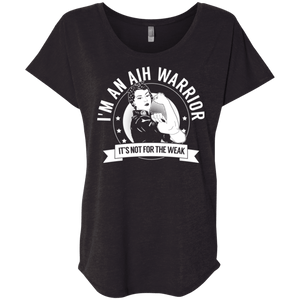 T-Shirts - Autoimmune Hepatitis - AIH Warrior NFTW Dolman Sleeve