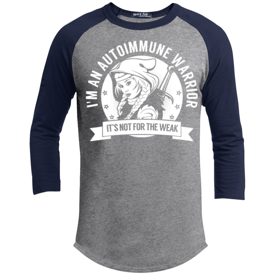 Autoimmune Warrior Hooded Baseball Shirt - The Unchargeables