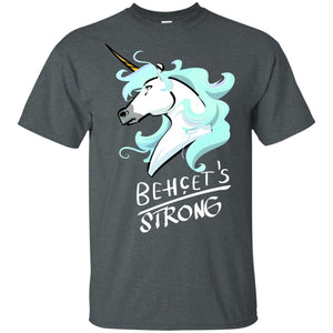 Behcets Strong Unicorn Cotton Unisex T-Shirt