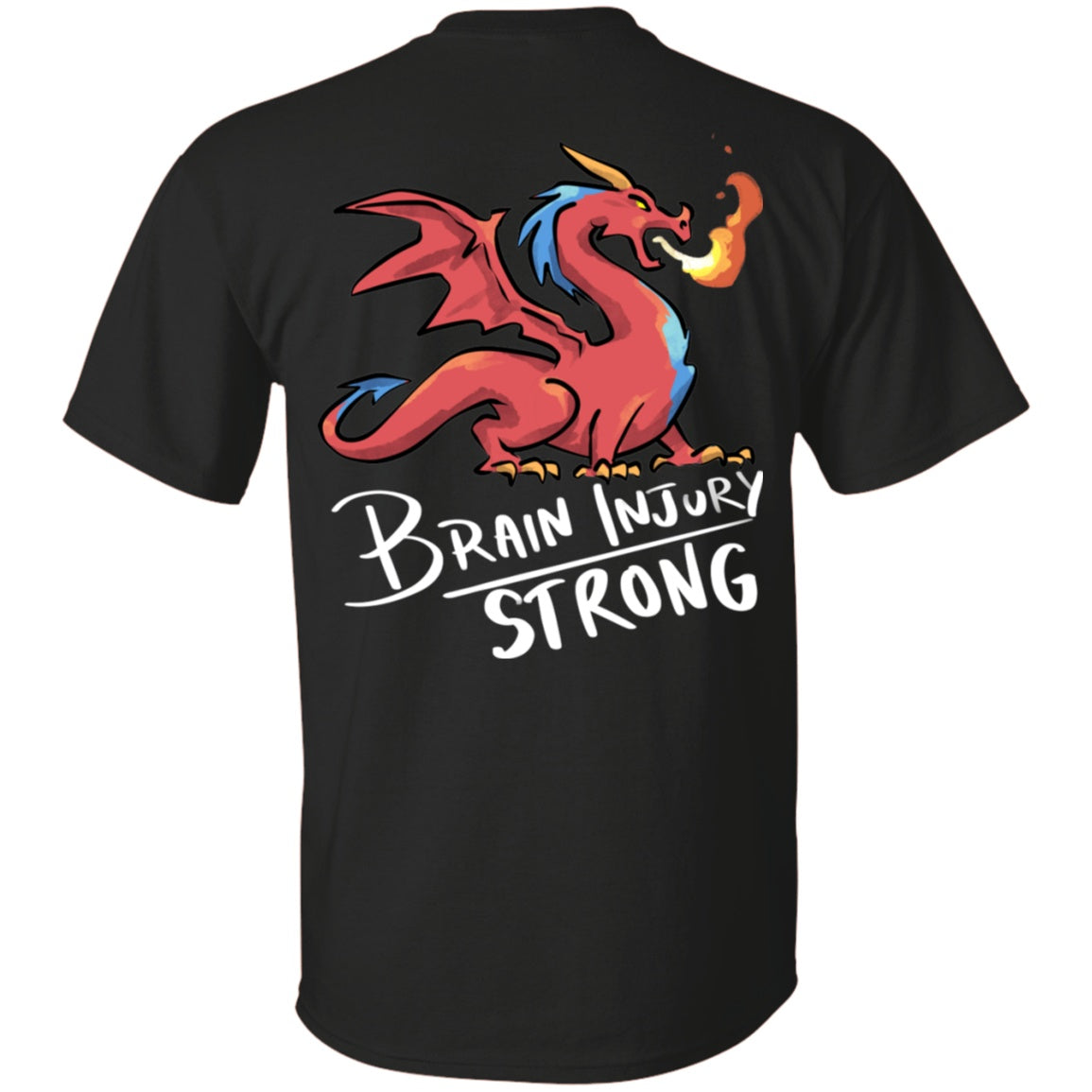 Brain Injury Strong Dragon Unisex T-Shirt - The Unchargeables
