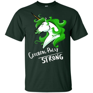 Cerebral Palsy Strong Unicorn Cotton Unisex T-Shirt