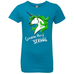 Cerebral Palsy Strong Unicorn Girls' Princess T-Shirt