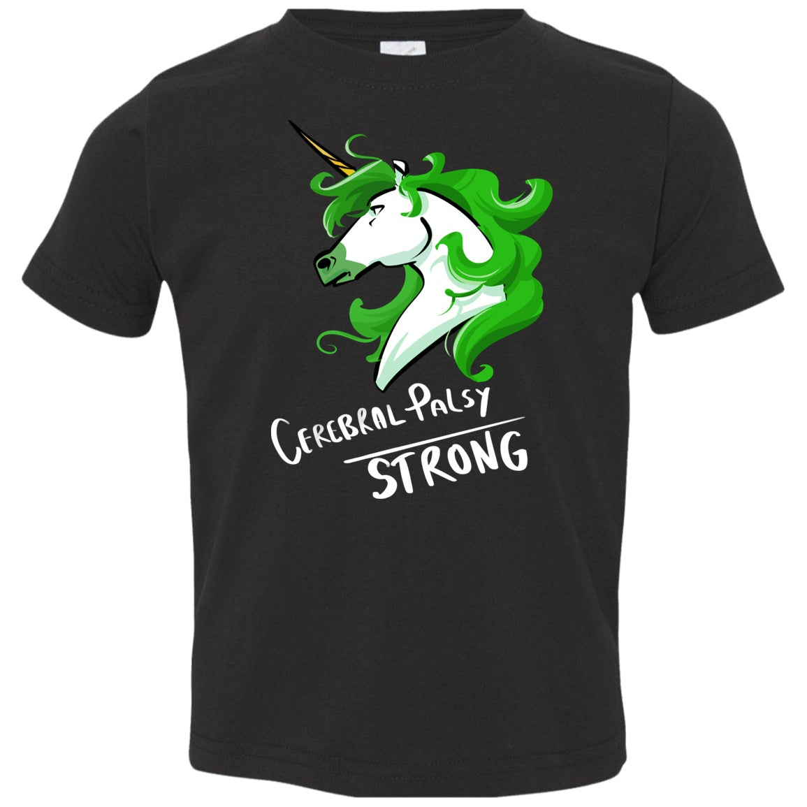 Cerebral Palsy Strong Unicorn Toddler Jersey T-Shirt - The Unchargeables