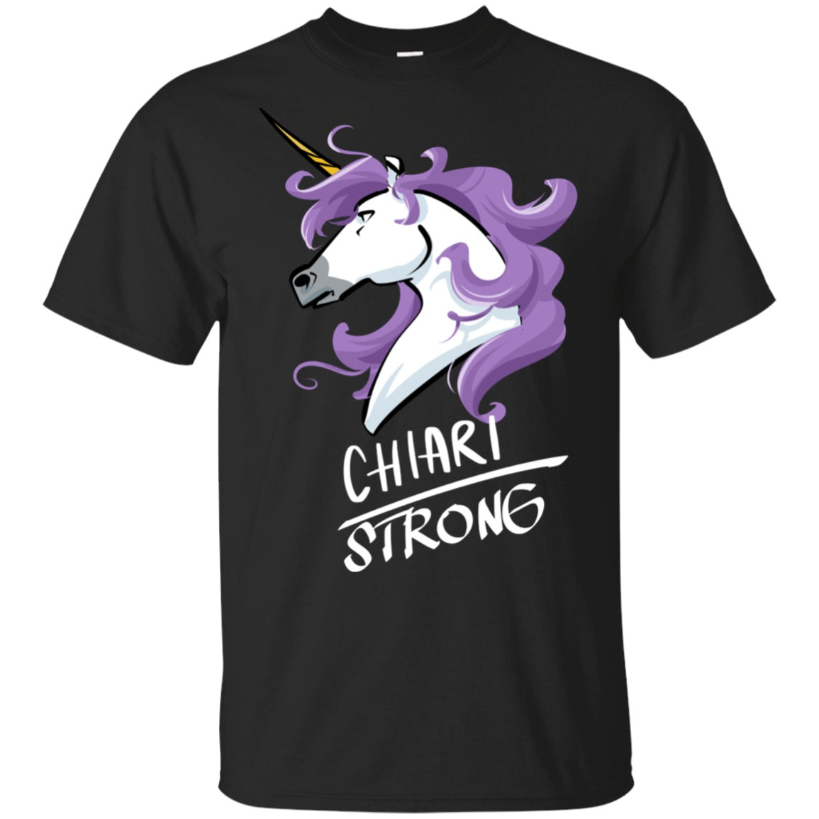 Chiari Strong Unicorn Cotton Unisex T-Shirt - The Unchargeables