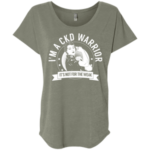 Chronic Kidney Disease - CKD Warrior Not For The Weak Dolman Sleeve - The Unchargeables