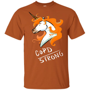 COPD Strong Unicorn Cotton Unisex T-Shirt