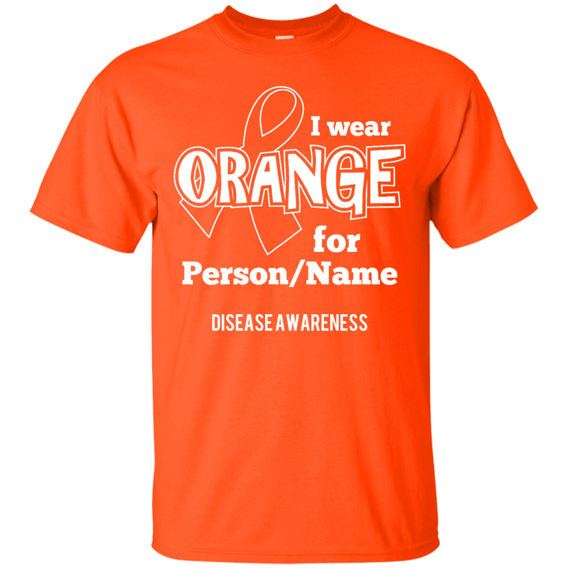 Customisable I Wear Orange For Unisex Shirt - The Unchargeables