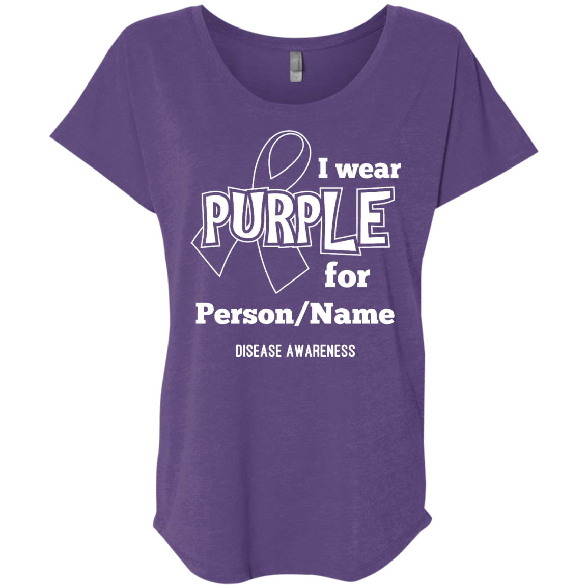 Customisable I Wear Purple For Dolman Sleeve - The Unchargeables