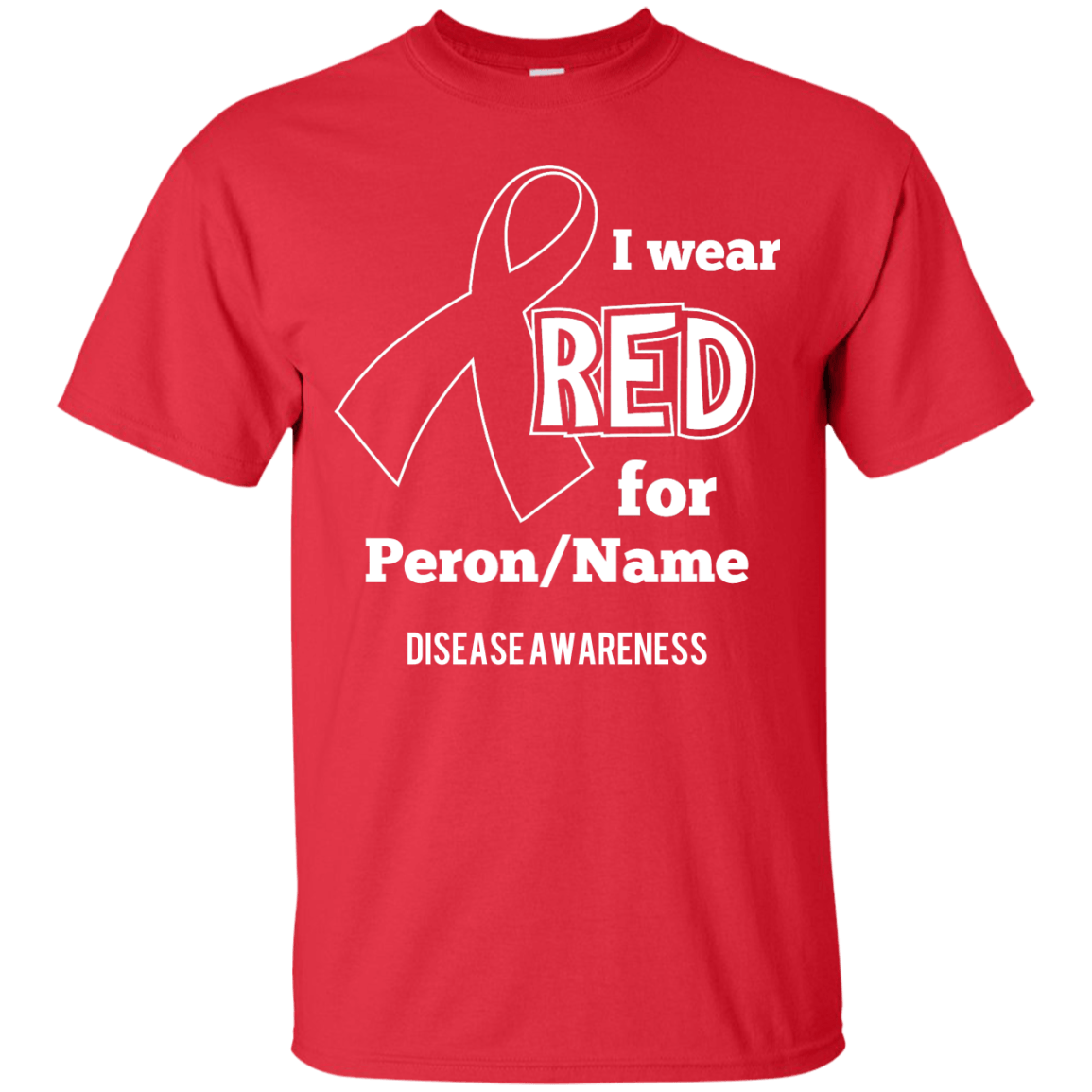Customisable I Wear Red For Unisex Shirt - The Unchargeables