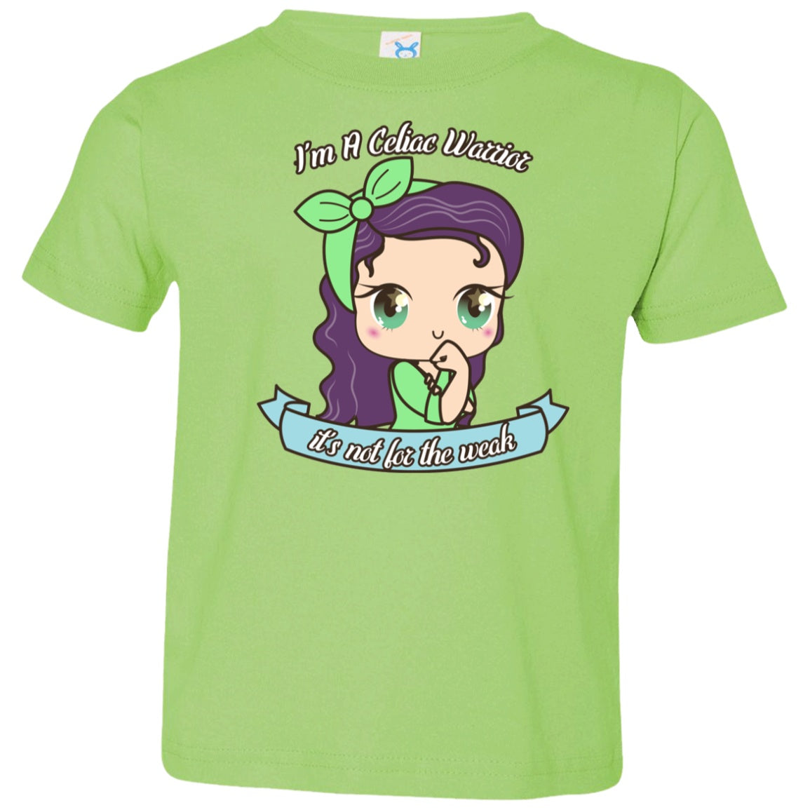 Cute Celiac Warrior Toddler Jersey T-Shirt - The Unchargeables