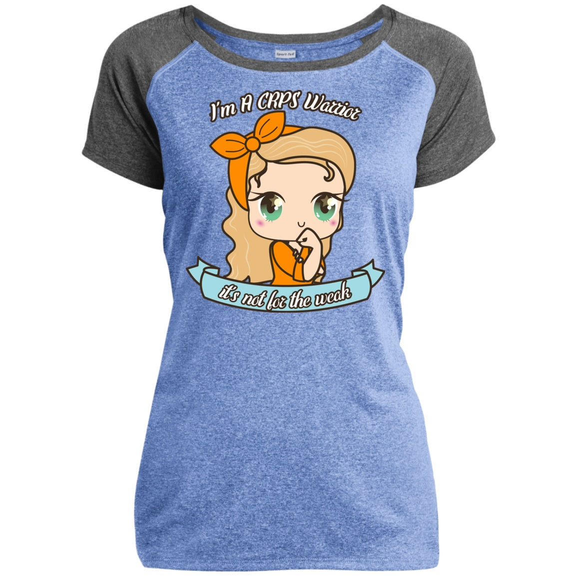 Cute CRPS Warrior Heather Performance T-Shirt - The Unchargeables