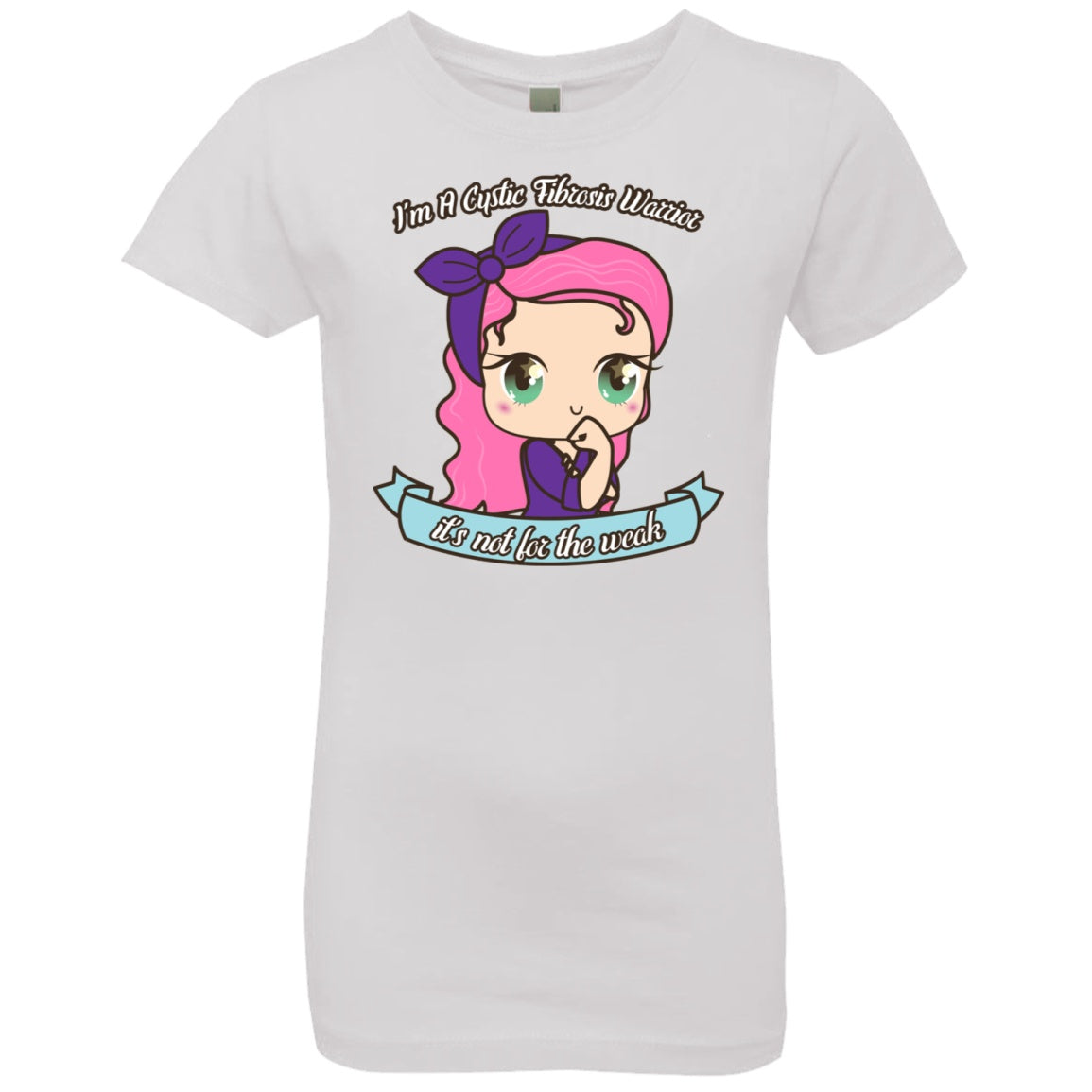 Cute Cystic Fibrosis Warrior Girls' Princess T-Shirt