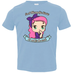 Cute Fibromyalgia Warrior Toddler Jersey T-Shirt