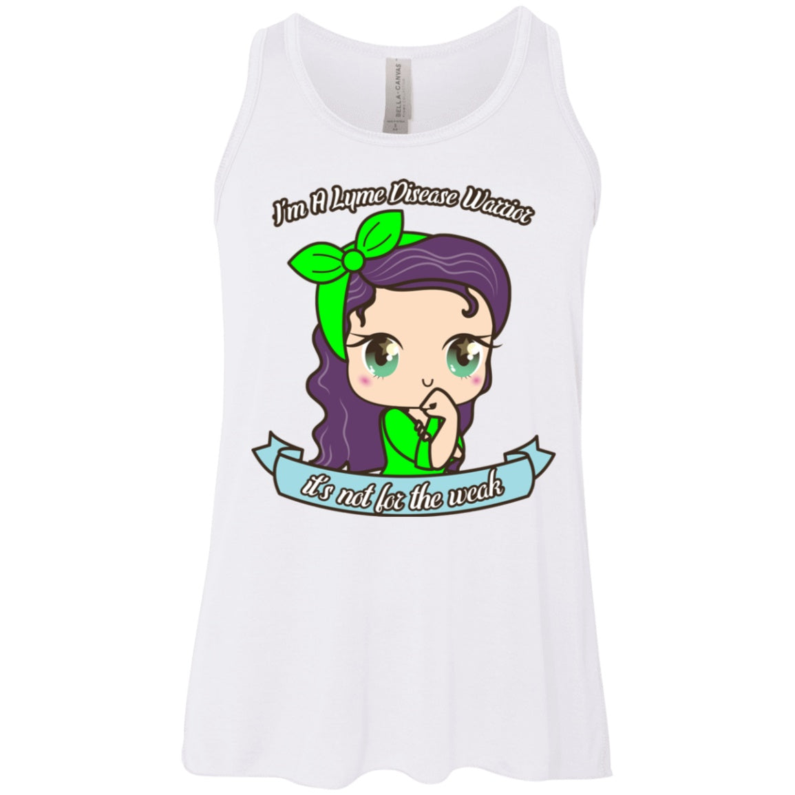 Cute Lyme Disease Warrior Youth Flowy Racerback Tank - The Unchargeables