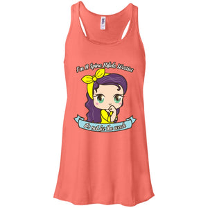 Cute Spina Bifida Warrior Flowy Racerback Tank