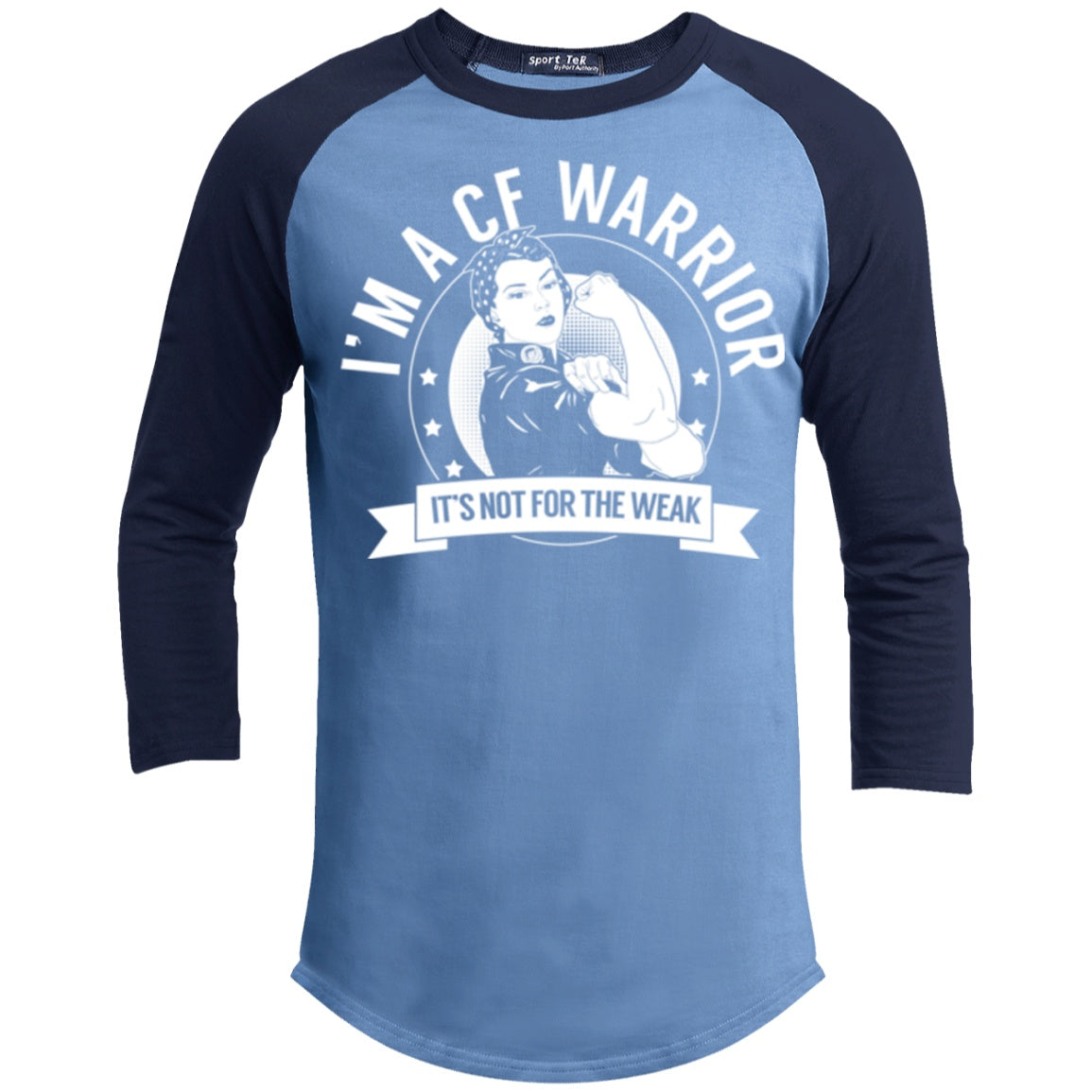 T-Shirts - Cystic Fibrosis - CF Warrior Not For The Weak Baseball Shirt