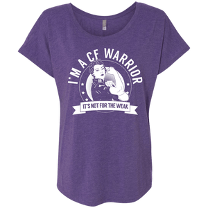 T-Shirts - Cystic Fibrosis - CF Warrior Not For The Weak Dolman Sleeve