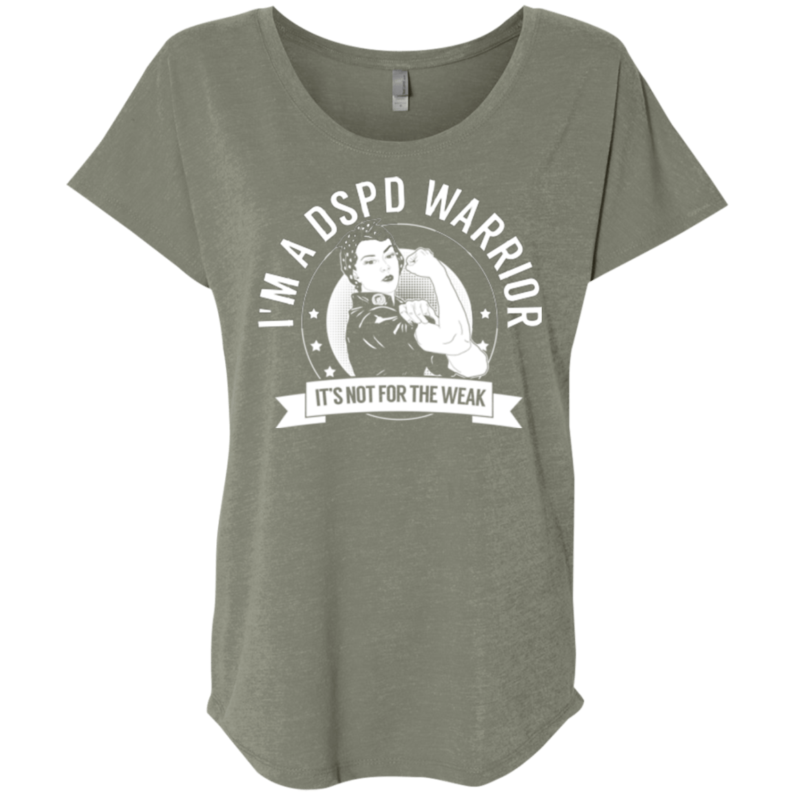 Delayed Sleep Phase Disorder - DSPD Warrior Not For The Weak Dolman Sleeve - The Unchargeables