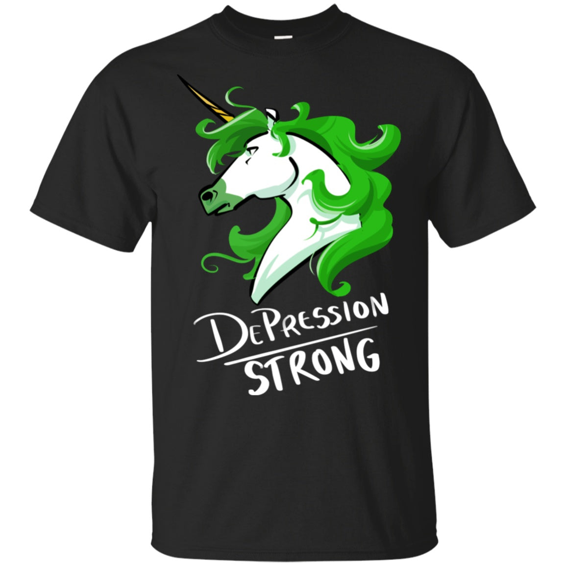 Depression Strong Unicorn Cotton Unisex T-Shirt - The Unchargeables