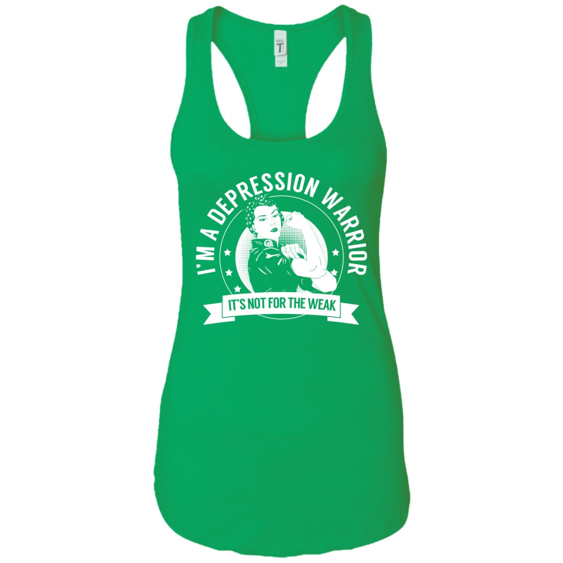 Depression Warrior NFTW Ideal Racerback Tank - The Unchargeables