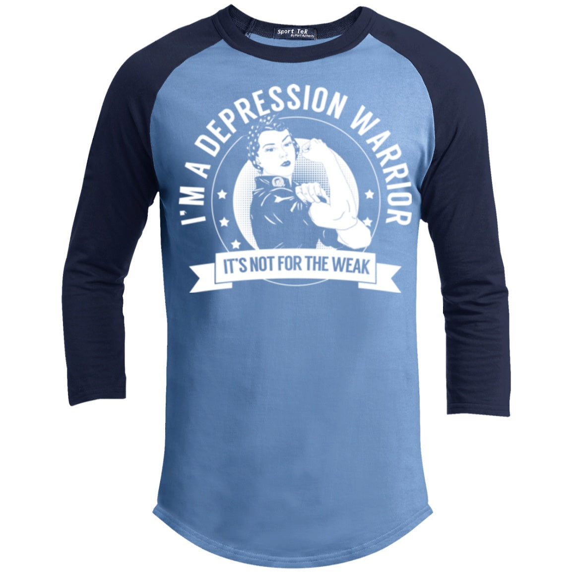 T-Shirts - Depression Warrior Not For The Weak Baseball Shirt