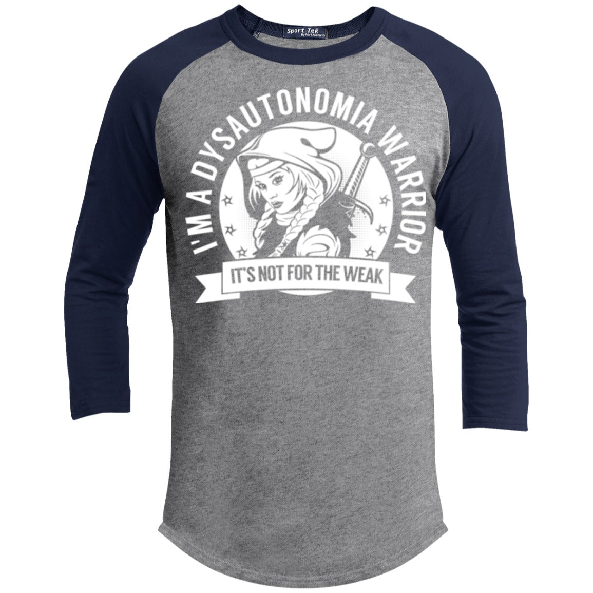 Dysautonomia Warrior Hooded Baseball Shirt - The Unchargeables