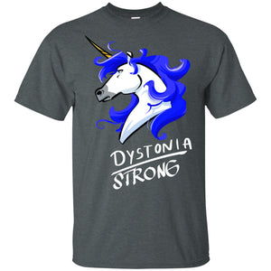 Dystonia Strong Unicorn Cotton Unisex T-Shirt