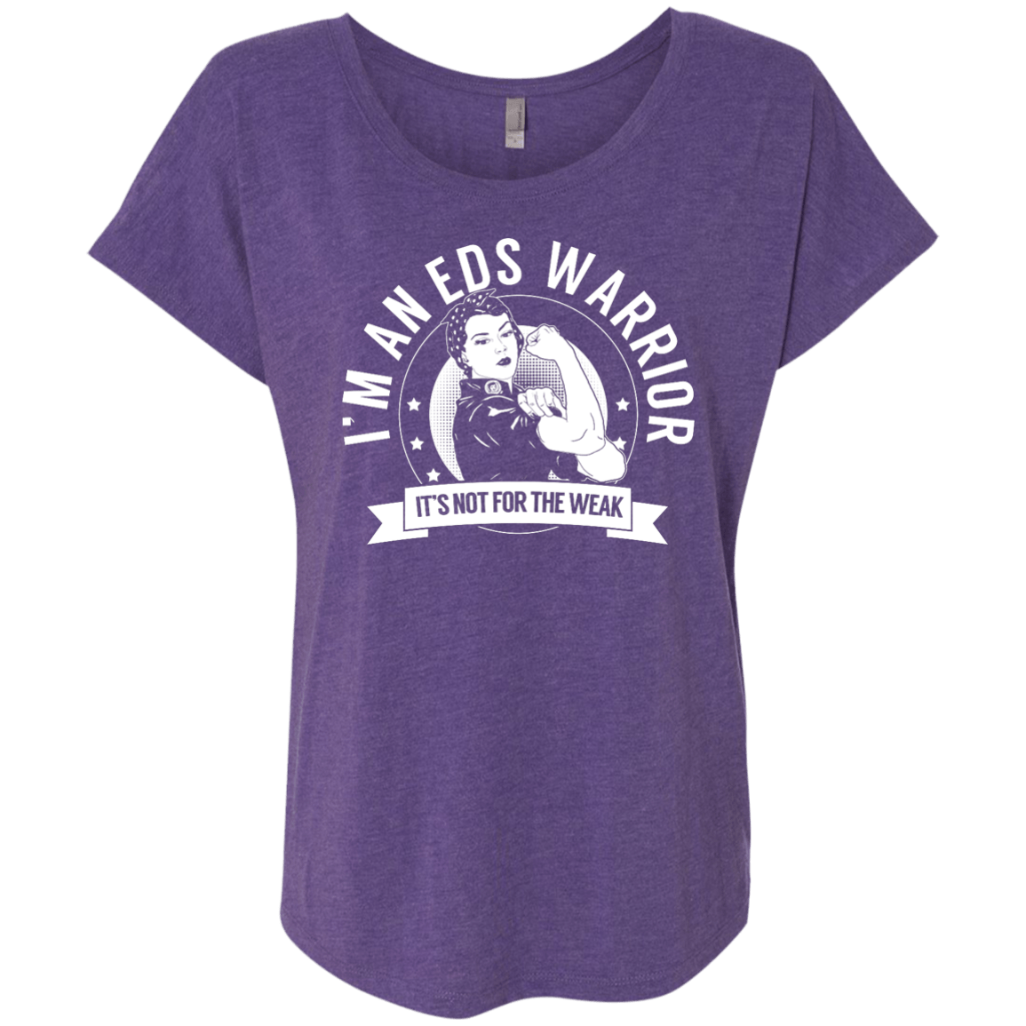 T-Shirts - Ehlers Danlos Syndrome - EDS Warrior Not For The Weak Dolman Sleeve