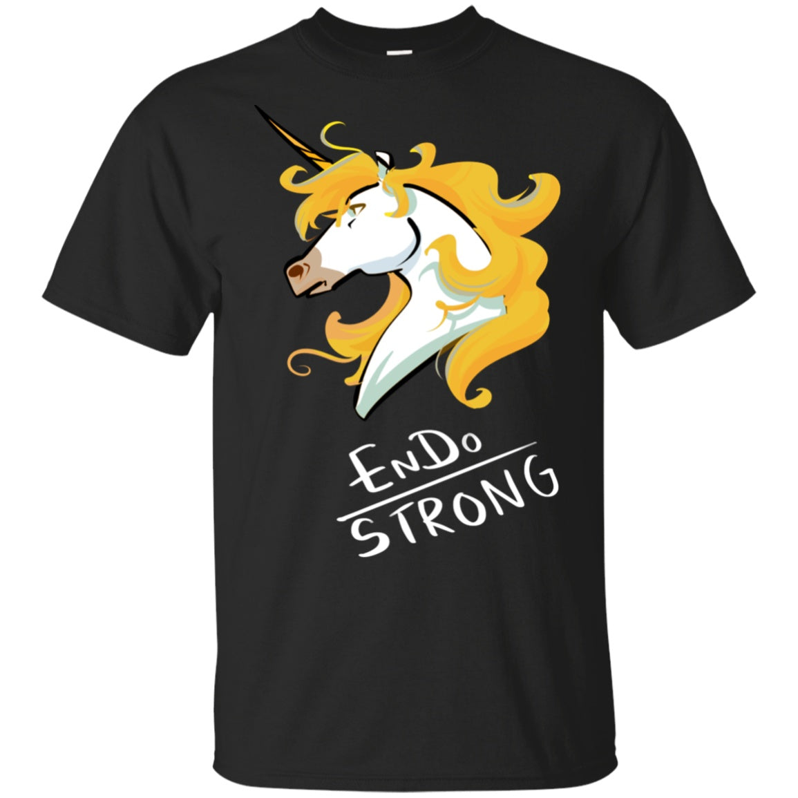 Endo Strong Unicorn Cotton Unisex T-Shirt - The Unchargeables