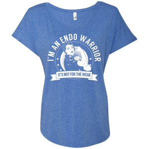 Endometriosis - Endo Warrior Not For The Weak Dolman Sleeve - The Unchargeables