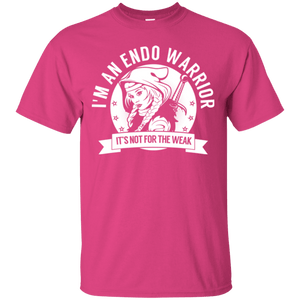 Endometriosis - Endo Warrior Hooded Cotton T-Shirt - The Unchargeables