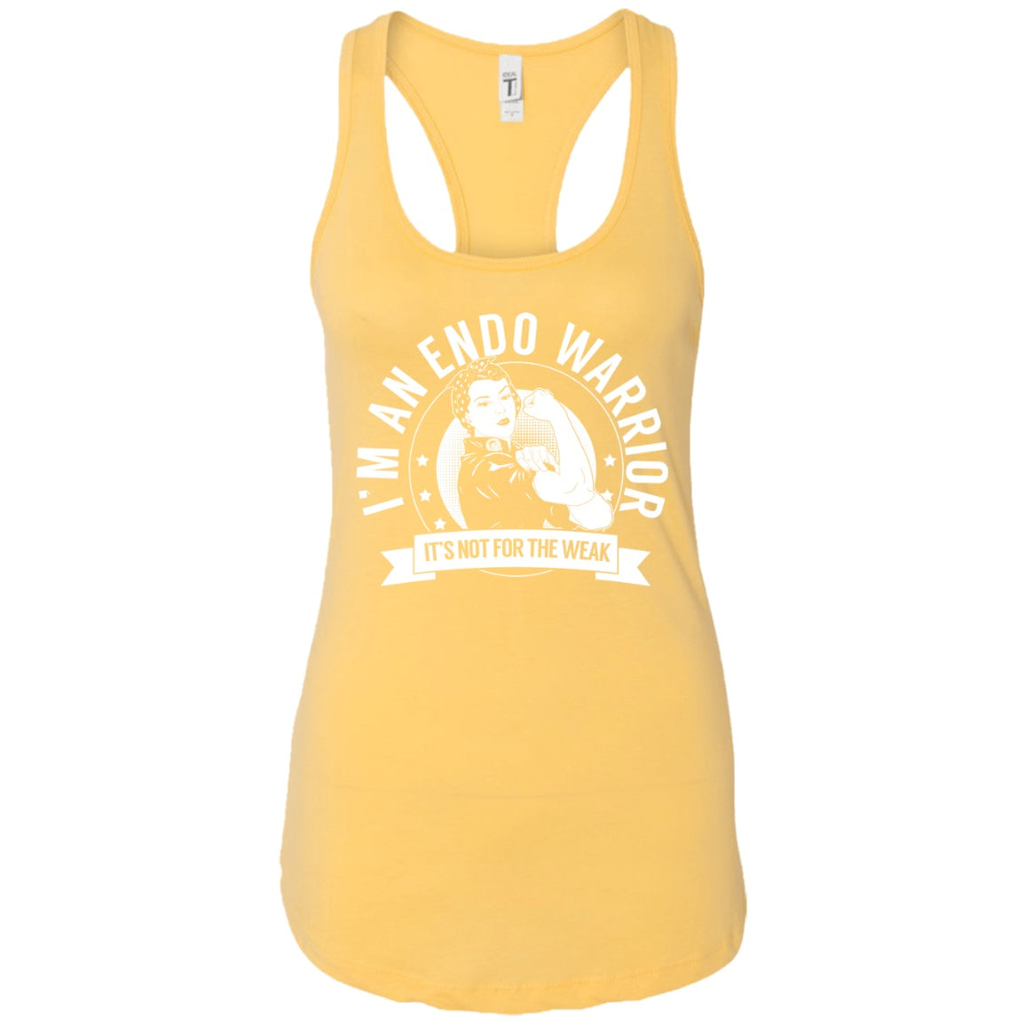 Endometriosis - Endo Warrior NFTW Ideal Racerback Tank - The Unchargeables