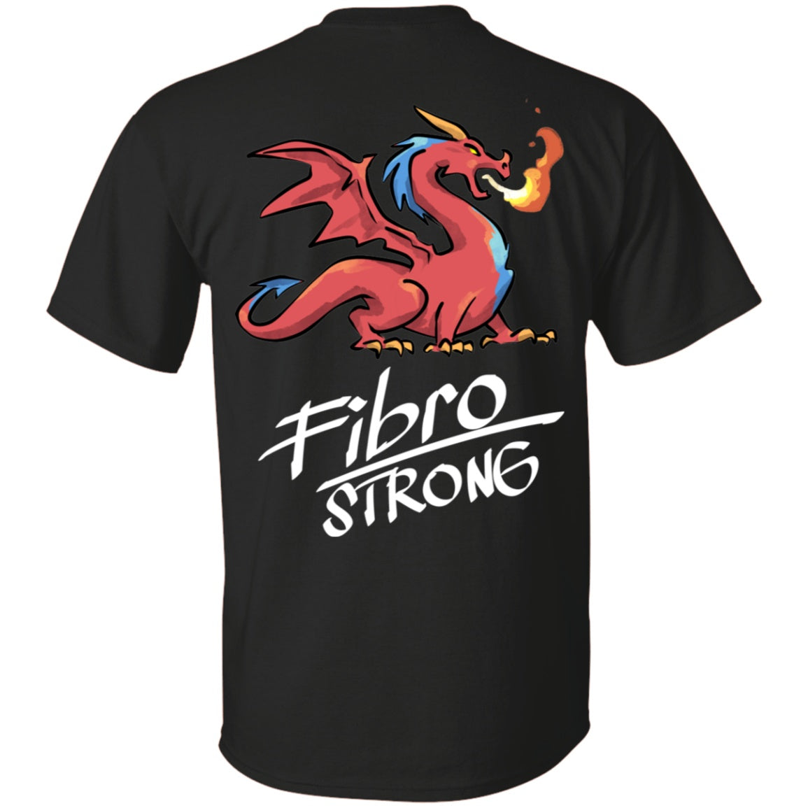 Fibro Strong Dragon (Back Print) Unisex T-Shirt - The Unchargeables