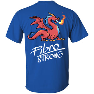 Fibro Strong Dragon (Back Print) Unisex T-Shirt