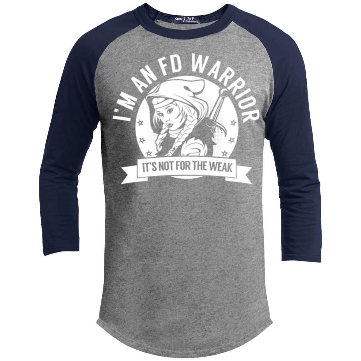 Fibrous Dysplasia - FD Warrior Hooded Baseball Shirt - The Unchargeables