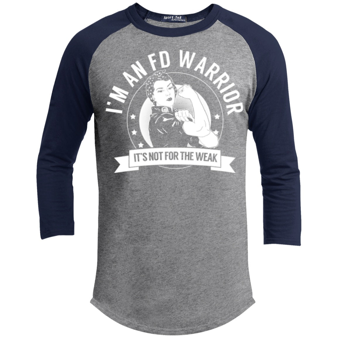 Fibrous Dysplasia - FD Warrior Not For The Weak Baseball Shirt - The Unchargeables
