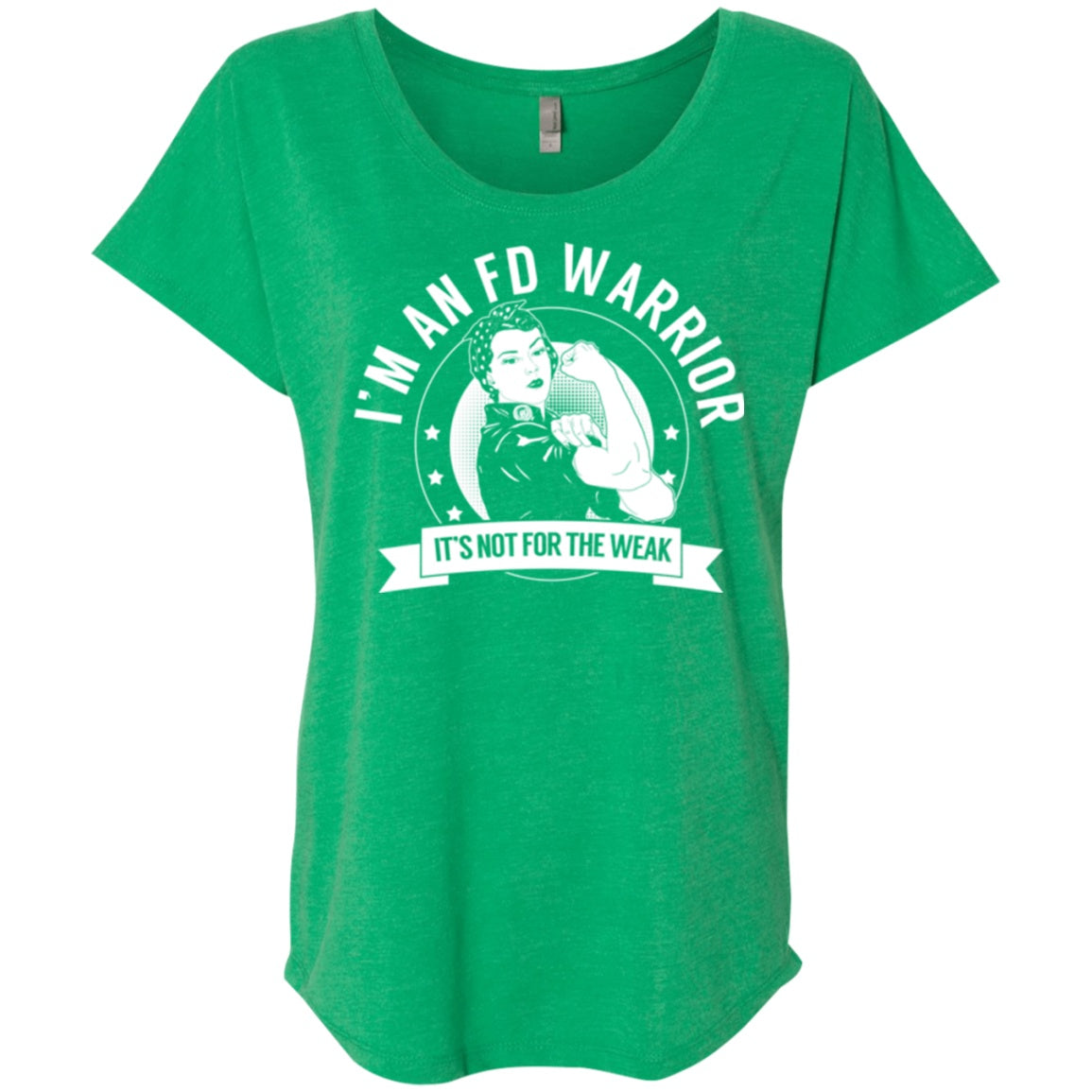 Fibrous Dysplasia - FD Warrior Not For The Weak Dolman Sleeve - The Unchargeables