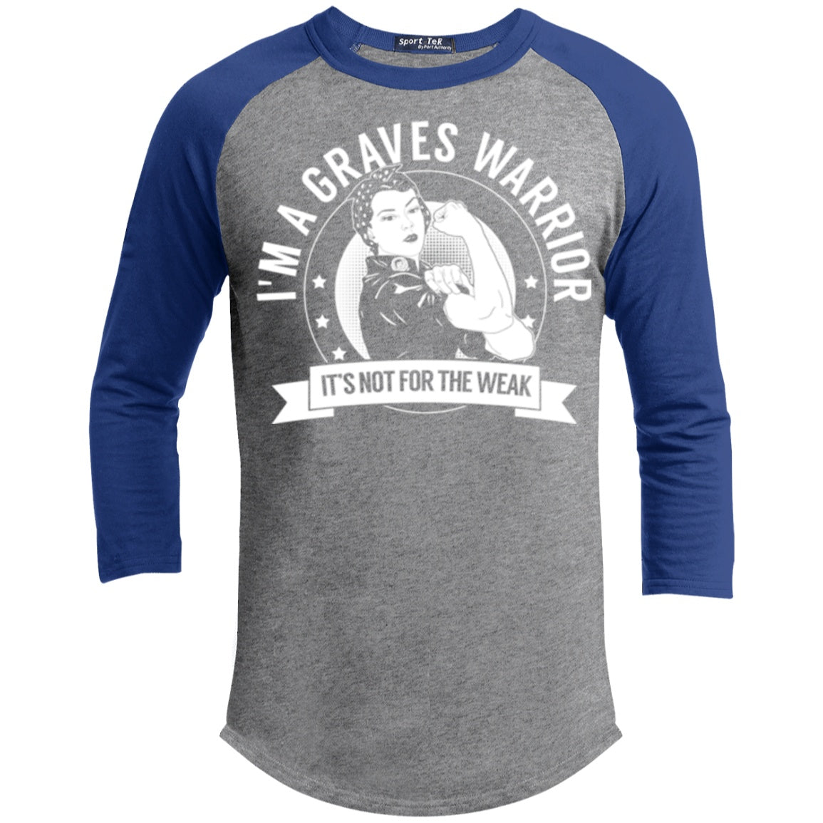 Graves Disease - Graves Warrior Not For The Weak Baseball Shirt - The Unchargeables