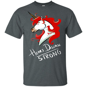 Heart Disease Strong Unicorn Cotton Unisex T-Shirt